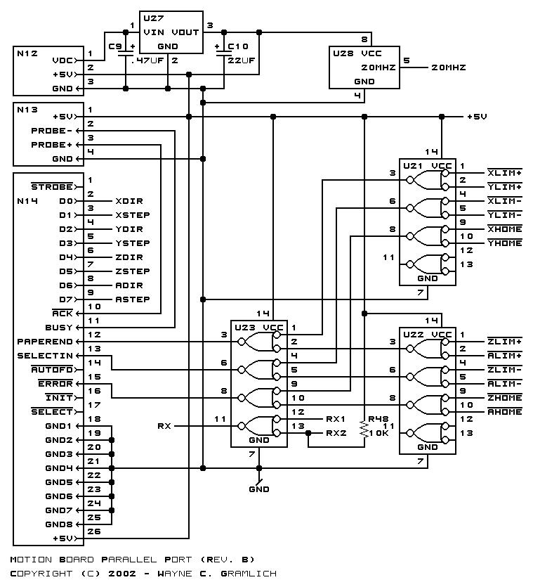 Cnc Controller Motion Board  Rev  B