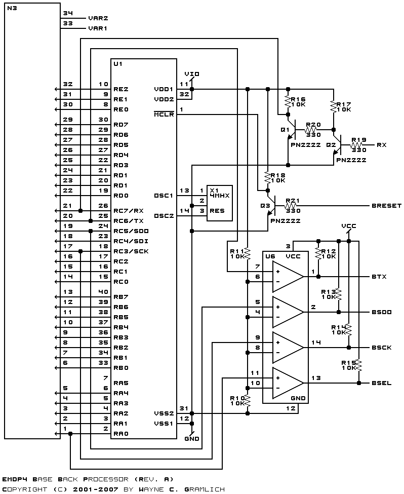 Processor Diagram Back Processor Circuit Diagram